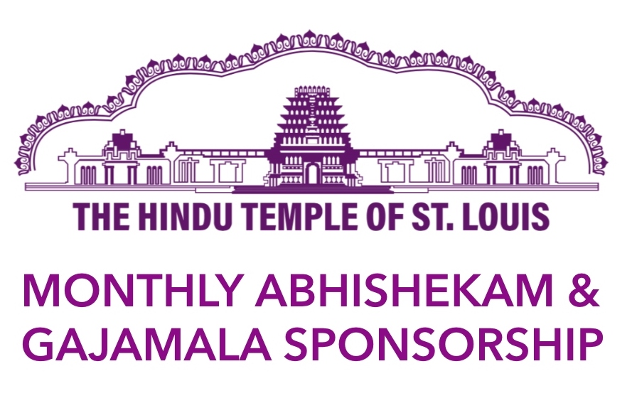 Monthly Abhishekam & Gajamala Sponsorship - Annual Subscription ($200/Deity)