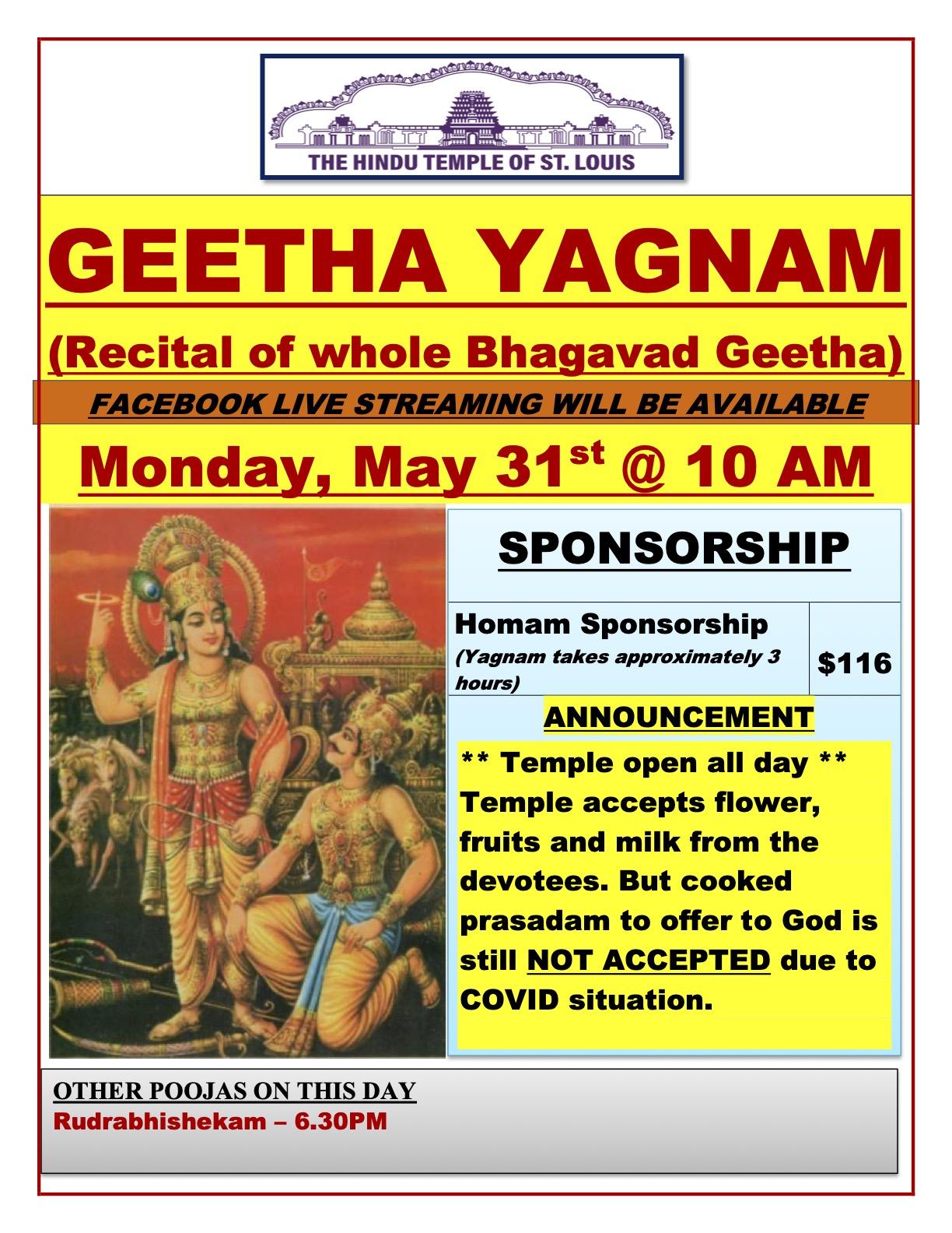 Geetha Yagnam Homam