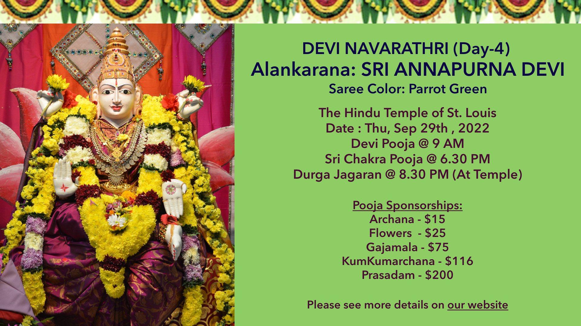 Devi Navarathri – Day4 @ 10/09