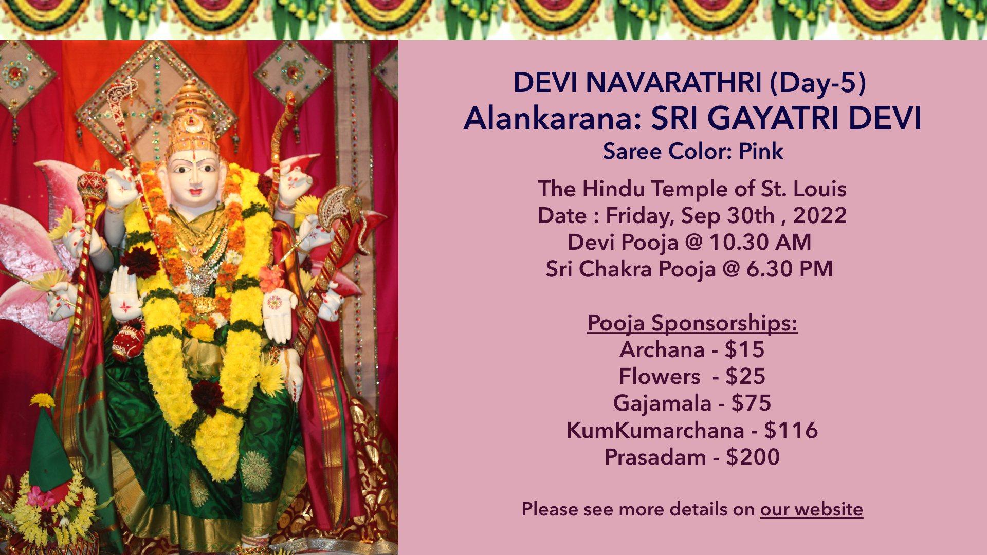 Devi Navarathri – Day5 @ 10/10