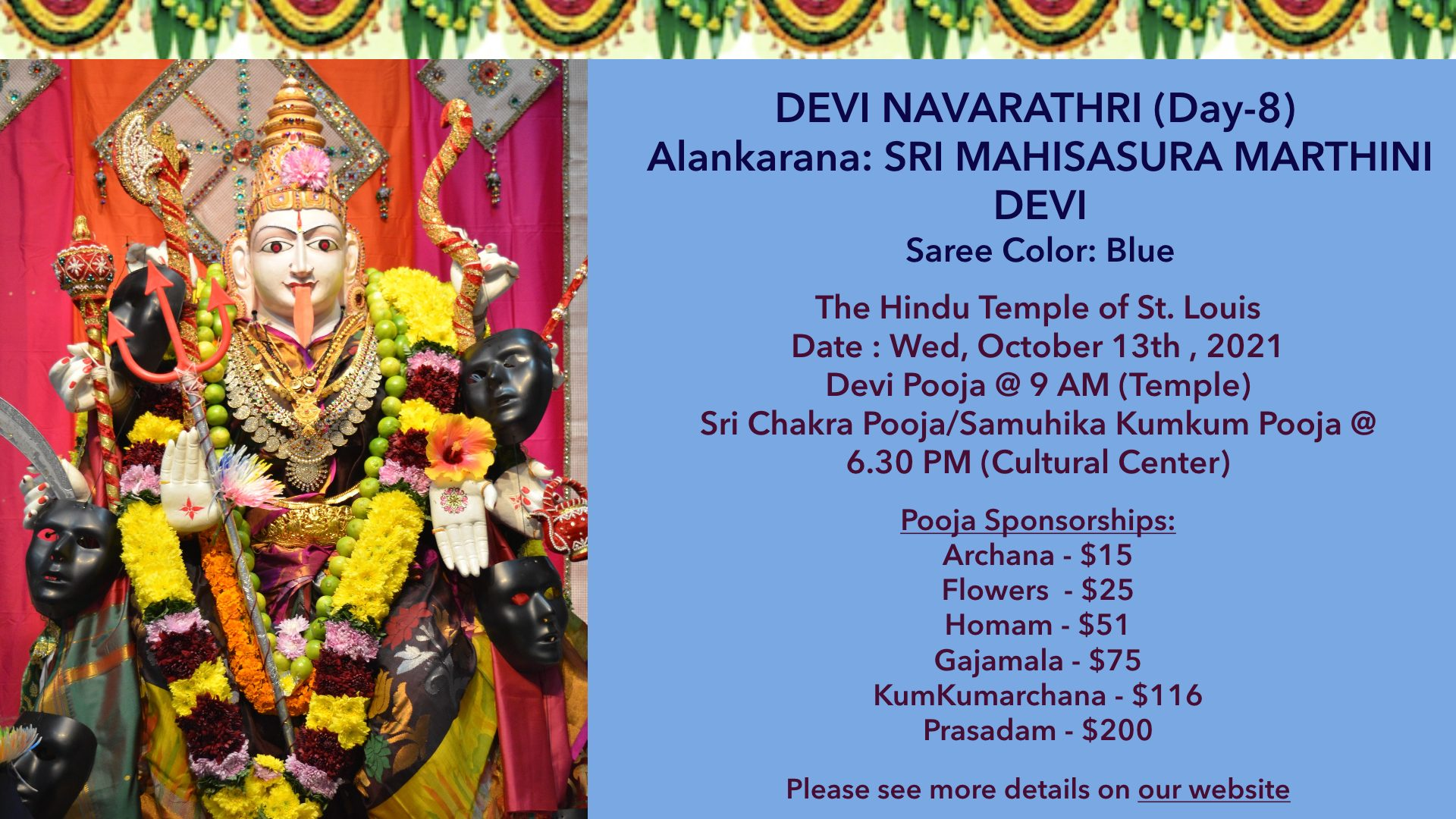 Devi Navarathri – Day8 @ 10/13