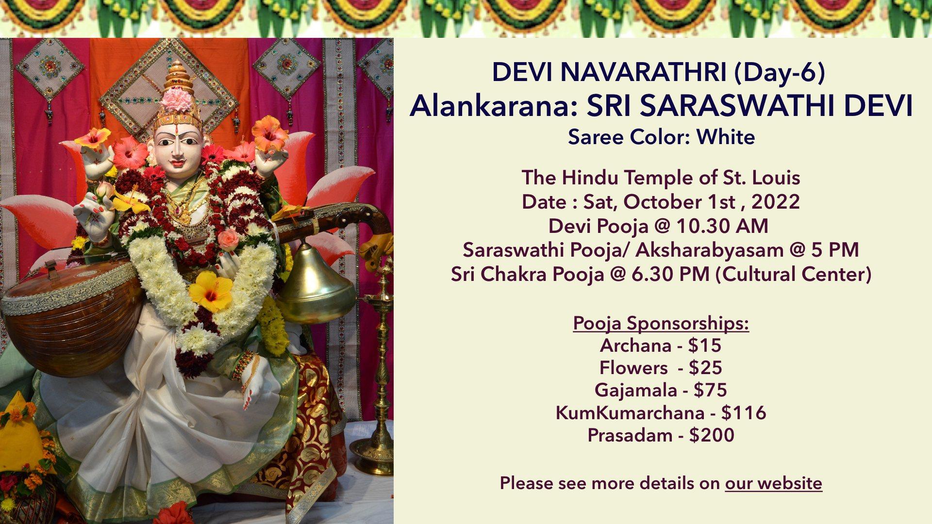 Devi Navarathri – Day6 @ 10/11