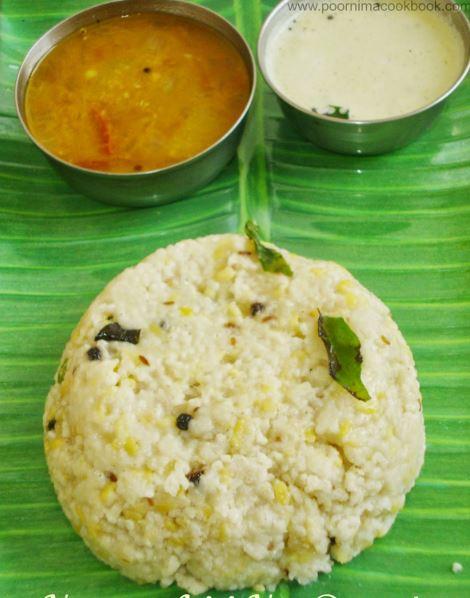 B-Pongal (with coconut chutney and sambar)