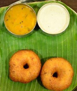 B-Vada (with coconut chutney and sambar)
