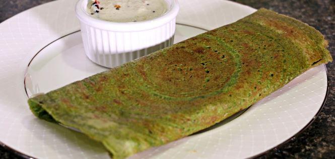 Pesarattu (Moong Dal Dosa) with Chutneys