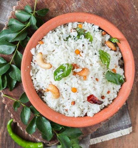 Coconut Rice with Raita